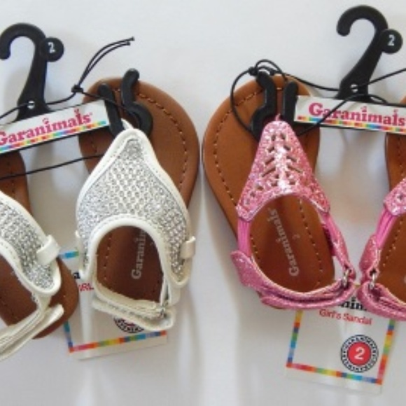 4b91bacc34 Garanimals Toddler 2 Girls Sandals Pink  White NWT